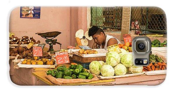 Cuban Market Stall Galaxy S6 Case by Peter J. Raymond