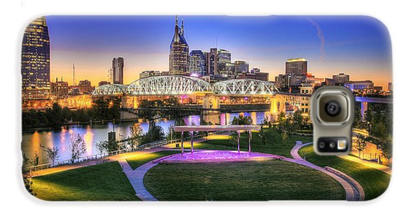 Cumberland Park And Nashville Skyline Galaxy S6 Case by Lucas Foley