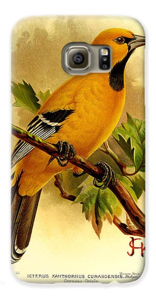 Curacao Oriole Galaxy S6 Case by J G Keulemans