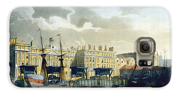 Custom House From The River Thames Galaxy S6 Case by T. & Pugin, A.C. Rowlandson