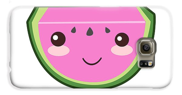 Cute Watermelon Illustration Galaxy S6 Case by Pati Photography