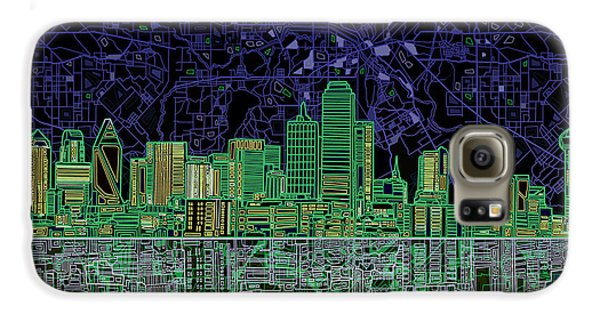 Dallas Skyline Abstract 4 Galaxy S6 Case by Bekim Art