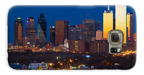 Dallas Skyline Panorama Galaxy S6 Case by Inge Johnsson
