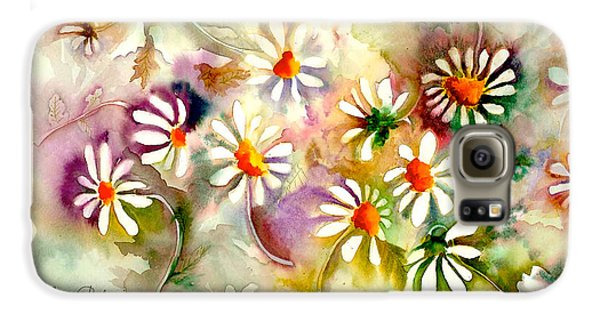 Dance Of The Daisies Galaxy S6 Case by Neela Pushparaj