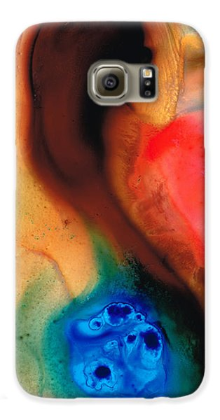 Dark Swan - Abstract Art By Sharon Cummings Galaxy S6 Case by Sharon Cummings