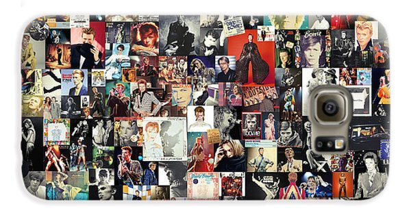 David Bowie Collage Galaxy S6 Case by Taylan Apukovska