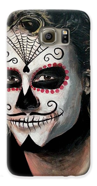 Day Of The Dead - Heath Ledger Galaxy S6 Case by Tom Carlton