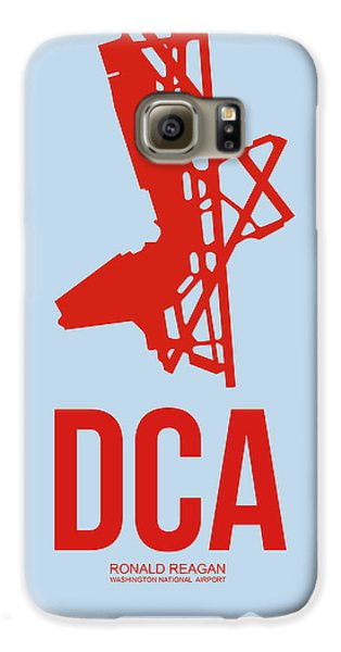 Dca Washington Airport Poster 2 Galaxy S6 Case by Naxart Studio