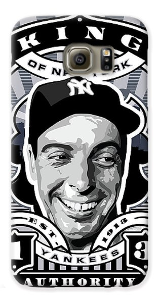 Dcla Joe Dimaggio Kings Of New York Stamp Artwork Galaxy S6 Case by David Cook Los Angeles