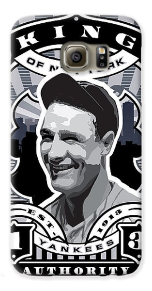 Dcla Lou Gehrig Kings Of New York Stamp Artwork Galaxy S6 Case by David Cook Los Angeles