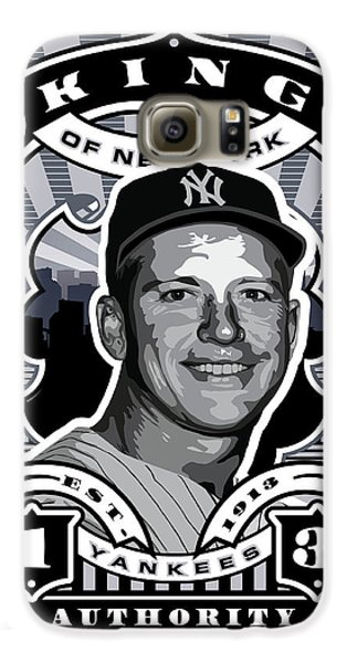 Dcla Mickey Mantle Kings Of New York Stamp Artwork Galaxy S6 Case by David Cook Los Angeles