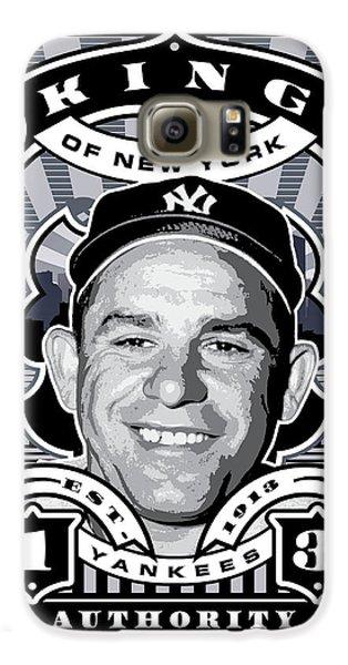 Dcla Yogi Berra Kings Of New York Stamp Artwork Galaxy S6 Case by David Cook Los Angeles
