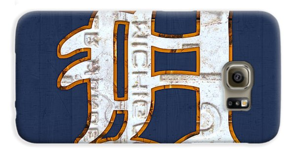 Detroit Tigers Baseball Old English D Logo License Plate Art Galaxy S6 Case by Design Turnpike