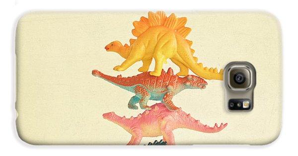Dinosaur Antics Galaxy S6 Case by Cassia Beck