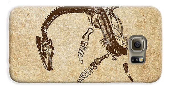 Dinosaur Plesiosaurus Macrocephalus Galaxy S6 Case by Aged Pixel