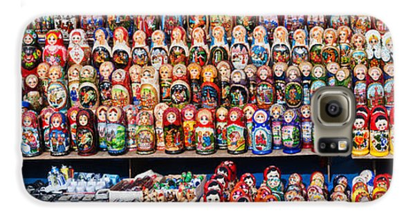 Display Of The Russian Nesting Dolls Galaxy S6 Case by Panoramic Images