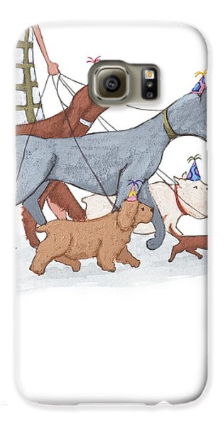 Dog Walker Galaxy S6 Case by Christy Beckwith