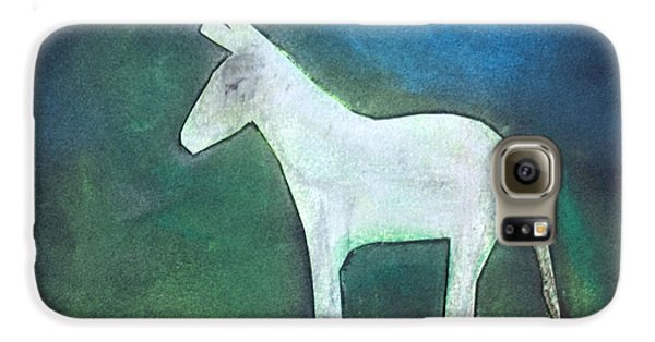 Donkey, 2011 Oil On Canvas Galaxy S6 Case by Roya Salari