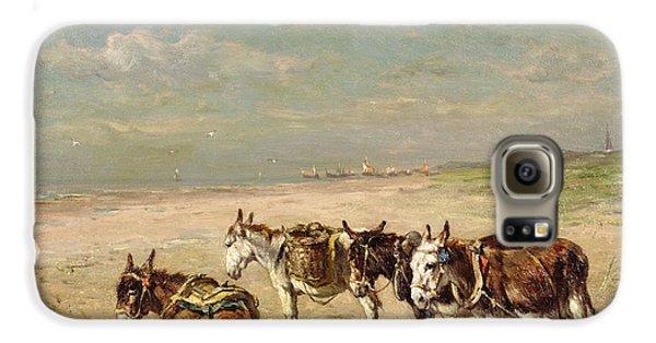 Donkeys On The Beach Galaxy S6 Case by Johannes Hubertus Leonardus de Haas