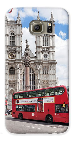 Double-decker Buses Passing Galaxy S6 Case by Panoramic Images