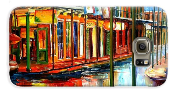 Downpour On Bourbon Street Galaxy S6 Case by Diane Millsap