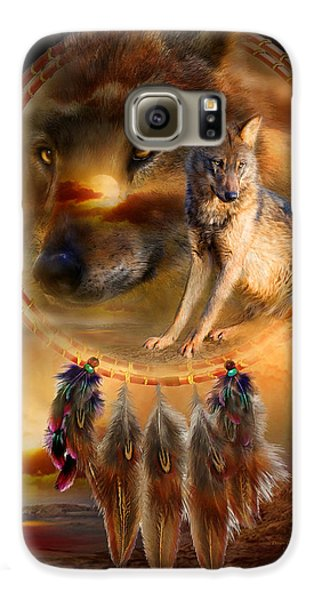 Dream Catcher - Wolfland Galaxy S6 Case by Carol Cavalaris