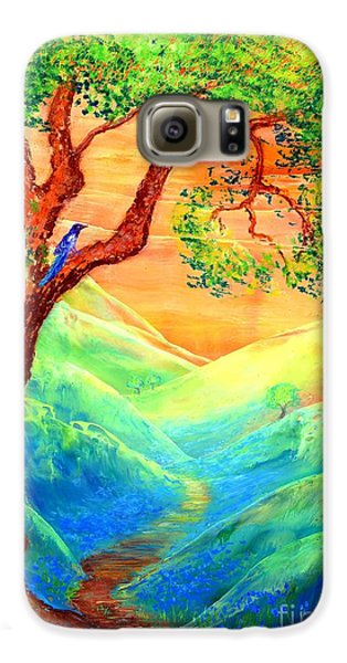 Dreaming Of Bluebells Galaxy S6 Case by Jane Small