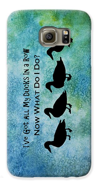 Ducks In A Row Galaxy S6 Case by Jenny Armitage