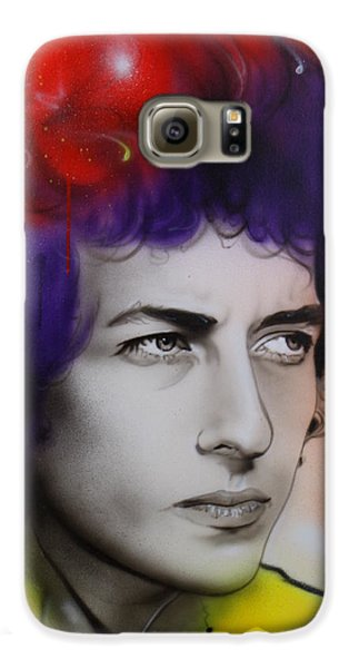 Bob Dylan - ' Dylan ' Galaxy S6 Case by Christian Chapman Art
