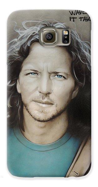 ' Eddie Vedder ' Galaxy S6 Case by Christian Chapman Art