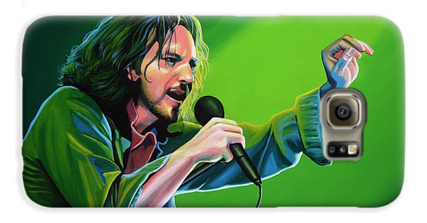 Eddie Vedder Of Pearl Jam Galaxy S6 Case by Paul Meijering