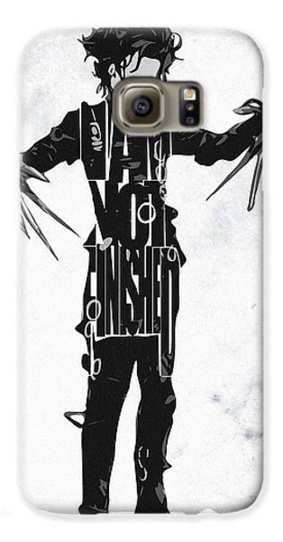 Edward Scissorhands - Johnny Depp Galaxy S6 Case by Ayse Deniz