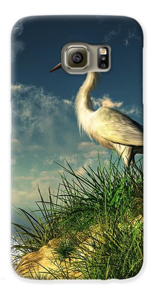 Egret In The Dunes Galaxy S6 Case by Daniel Eskridge
