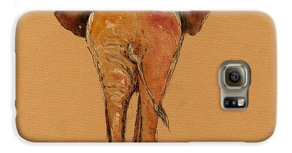 Elephant Back Galaxy S6 Case by Juan  Bosco