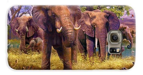 Elephants Galaxy S6 Case by Jan Patrik Krasny