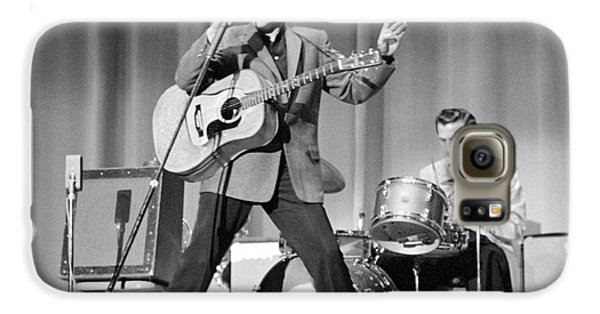 Elvis Presley And D.j. Fontana Performing In 1956 Galaxy S6 Case by The Phillip Harrington Collection