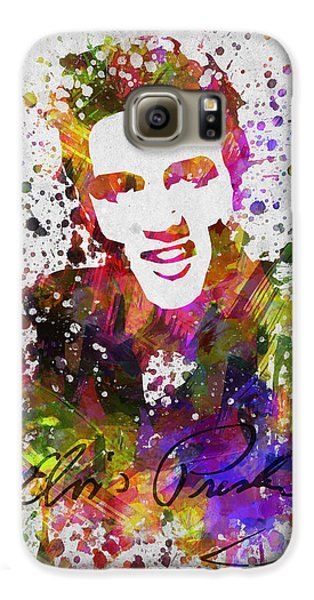 Elvis Presley In Color Galaxy S6 Case by Aged Pixel