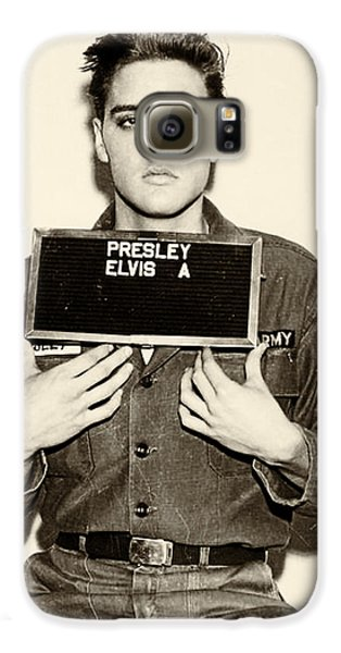 Elvis Presley - Mugshot Galaxy S6 Case by Digital Reproductions