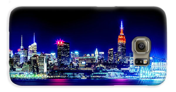 Empire State At Night Galaxy S6 Case by Az Jackson