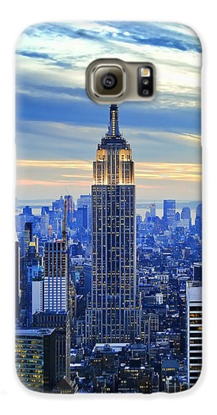 Empire State Building New York City Usa Galaxy S6 Case by Sabine Jacobs