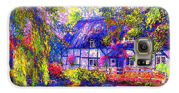 English Cottage Galaxy S6 Case by Jane Small