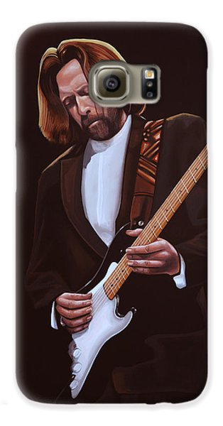 Eric Clapton Painting Galaxy S6 Case by Paul Meijering