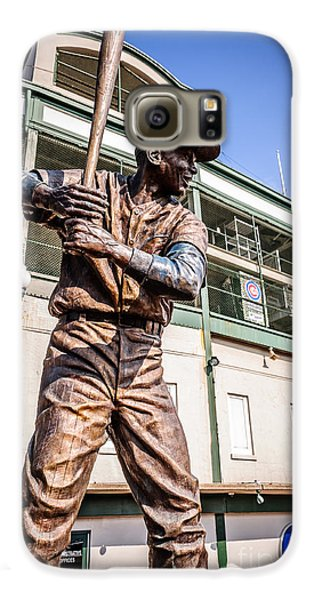 Ernie Banks Statue At Wrigley Field  Galaxy S6 Case by Paul Velgos