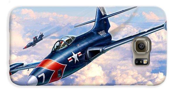 F9f-5p Photo Panthers Galaxy S6 Case by Stu Shepherd