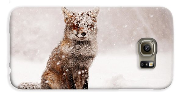 Fairytale Fox _ Red Fox In A Snow Storm Galaxy S6 Case by Roeselien Raimond