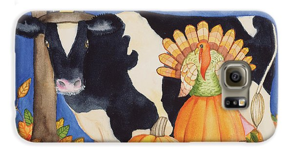 Fall Cow Galaxy S6 Case by Kathleen Parr Mckenna