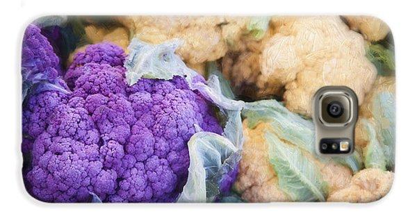 Farmers Market Purple Cauliflower Galaxy S6 Case by Carol Leigh