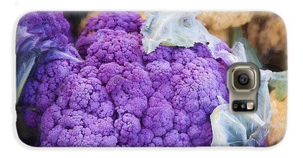 Farmers Market Purple Cauliflower Square Galaxy S6 Case by Carol Leigh