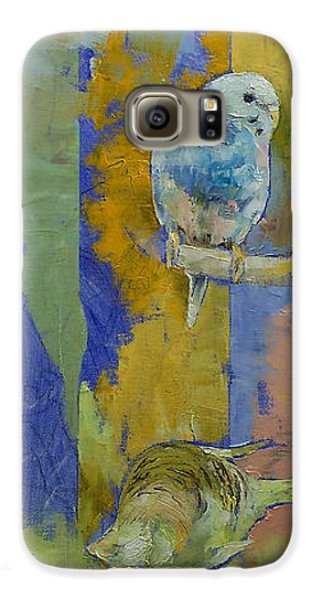 Feng Shui Parakeets Galaxy S6 Case by Michael Creese