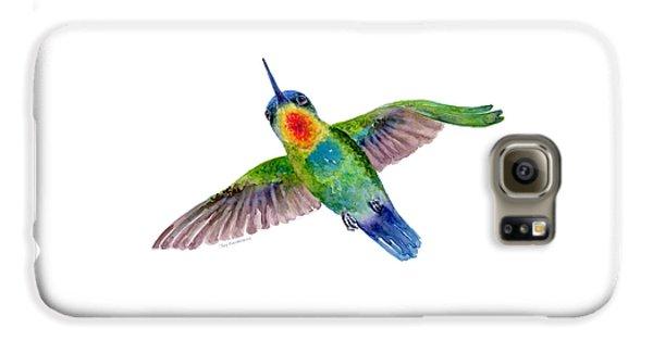 Fiery-throated Hummingbird Galaxy S6 Case by Amy Kirkpatrick